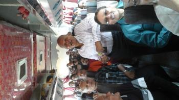 Group enjoying bus tour