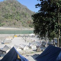 Beach camping with 16 kms rafting