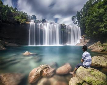 Krang Suri blue Water Falls