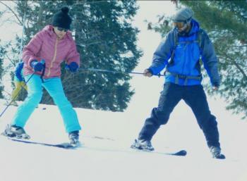 Beginners ski training