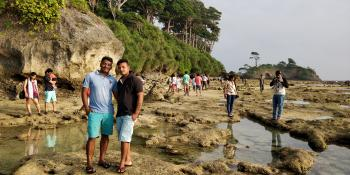 natural rock neil island with debnath