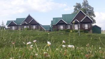 Gulmarg evening  picture tourism huts