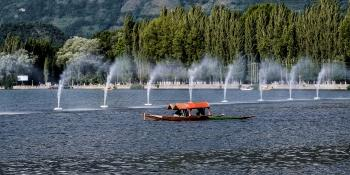 SHIKARA ON DAL LAKE SRINAGAR