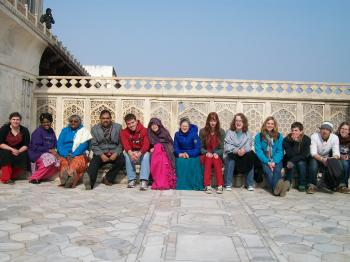 Group Picture At Agra Fort - Agra