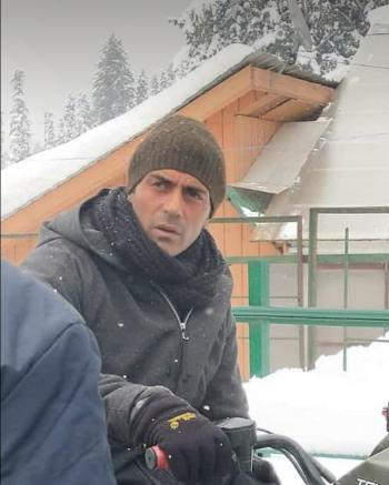 Bollywood actor Arjun Rampal in Gulmarg picture click during bike ride