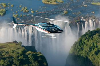 Helicopter Flight in Victoria Falls