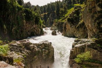 Aharbal Waterfall Kashmir