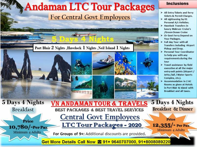 Andaman LTC Tour Packages