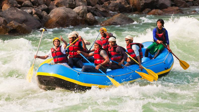 Rafting Camping in Rishikesh with Tempo Traveller