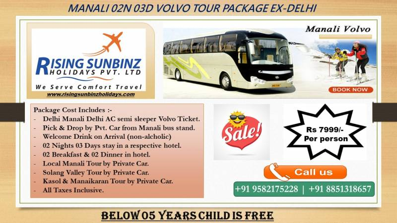 02 Nights 03 Days Delhi to Manali Tour Package