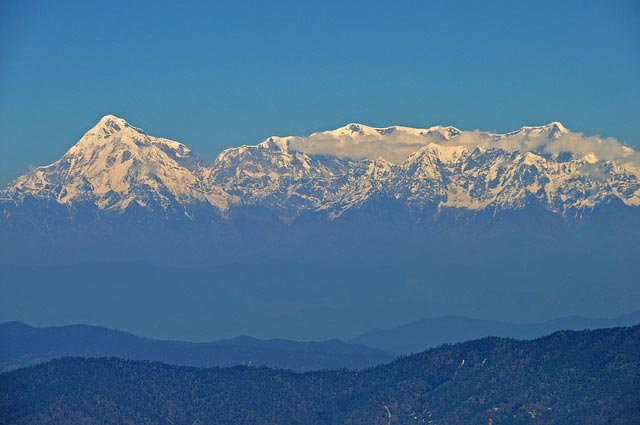 Snow View From Nainital