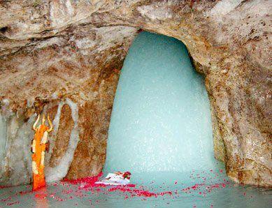 Snow Shiva Lingam