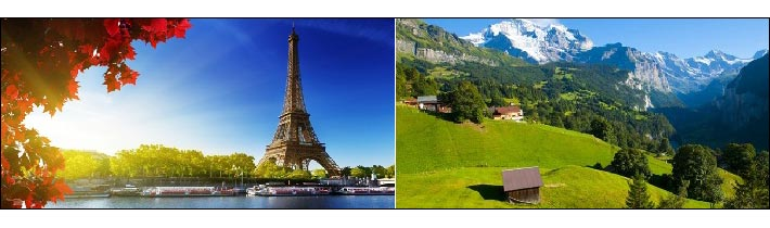 Switzerland and Paris Ex New Delhi