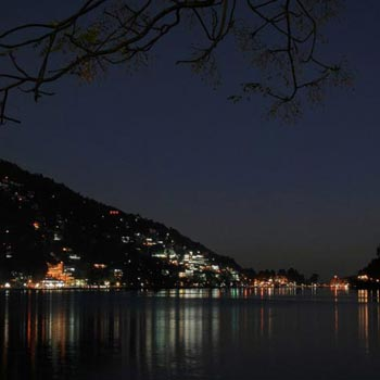 Nainital at night