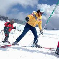 Winter Skiing At Manali