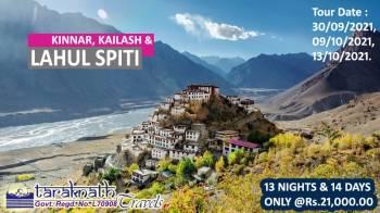 Tour Package of Kinnar, Kailash & Lahul Spiti