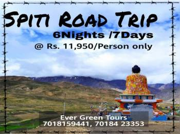 Spiti Valley Trip 7 Days Tour