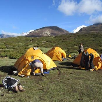 Camping in Darjeeling