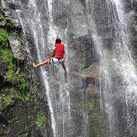 Waterfall Rappelling at Kondana CavesKarjat Tour