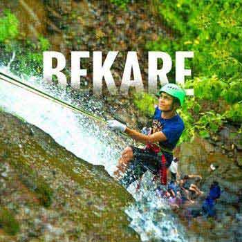 Waterfall Rappelling at Bekare Waterfall Bhivpuri Tour