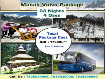 Marvellous Manali Vovo Package 3 Nights 4 Days