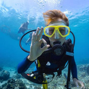 Scuba Diving in Sea Water