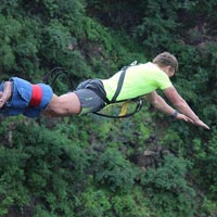 Bunji Jump on the Victoria Falls Bridge