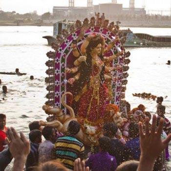 Immersion of Durga idol