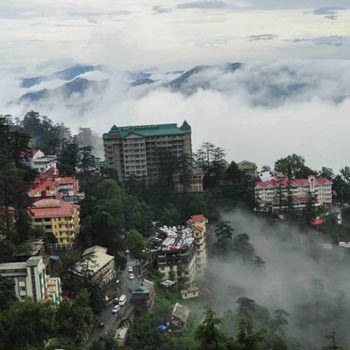Top View Of Queen Of  Hill-Shimla