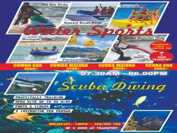 01 day package Scuba Diving And  Watersports Combo Package