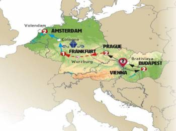 Vienna – Budapest – Bratislava – Prague – Lauf - Wurzburg – Frankfurt  (code: Akf)