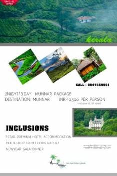 Wecome 2020 from the Most Beautiful Hillstation of Kerala - Munnar Tour