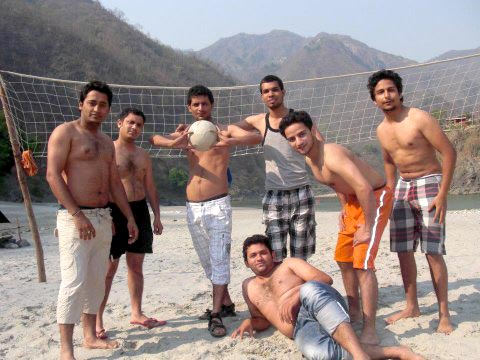 Recreational activities at Rishikesh Beach camp