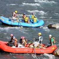 Manali's water rafting