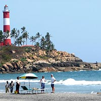 KOVALAM BEACH LIGHT HOUSE VIEW